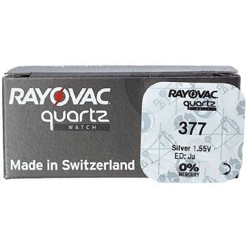 Rayovac 377 SR626SW 1.5V Silver Oxide Watch Battery